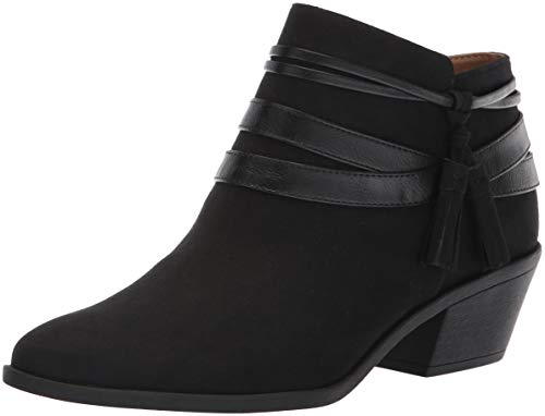LifeStride Women's PALOMA Ankle Boot, Black, 5.5 M US