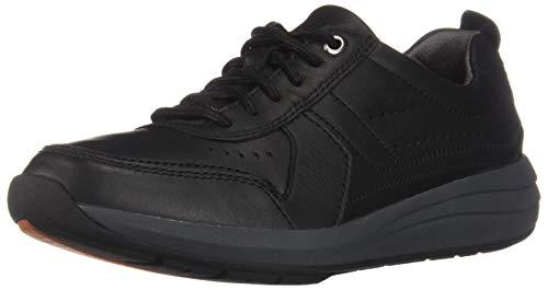 Clarks Un Coast Form Mens Sneakers Black Leather 14