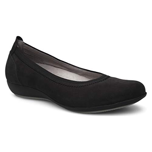 Dansko Women's Kristen Black Nubuck Slip on Flat 8.5-9 M US