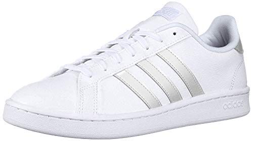 adidas Women's Grand Court Track and Field Shoe, FTWR White/Grey Two, 8.5 Standard US Width US