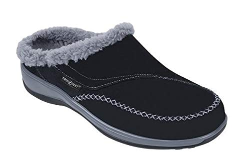 Orthofeet Proven Heel and Foot Pain Relief. Plantar Fasciitis Diabetic Orthopedic Leather Women's Slippers Charlotte