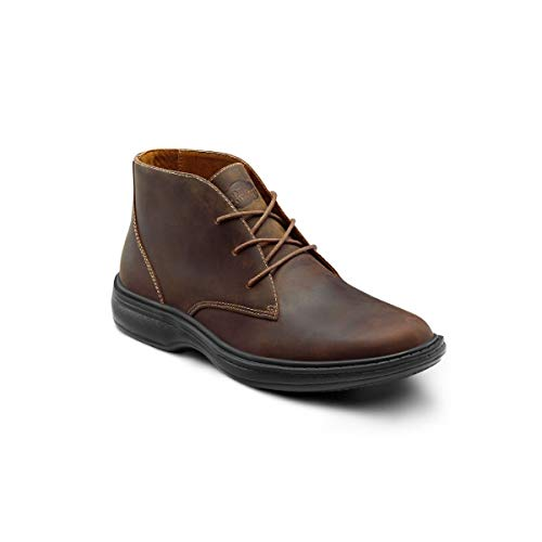 Dr. Comfort Ruk Men's Therapeutic Diabetic Extra Depth Boot Leather lace-up - Brown 10.0 Wide (E/2E) Brown Lace US Men