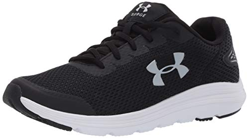 Under Armour Men's Surge 2 Running Shoe, Black (001)/White, 7