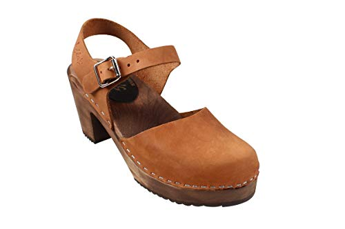 Lotta From Stockholm Swedish Clogs Highwood in Brown Oiled Nubuck on Brown Base-41