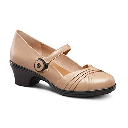 Dr. Comfort Women's Cindee Dress Heels: Taupe 8 Wide (C/D)