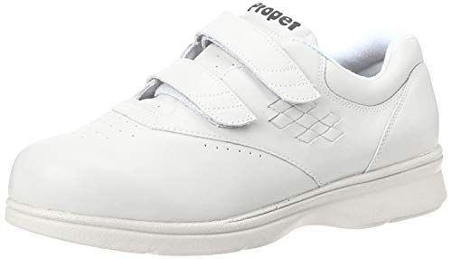 Propet Men's Life Walker Strap Sneaker,White,11 XX (US Men's 11 5E)