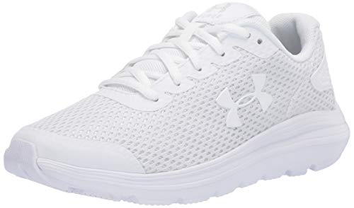 Under Armour Women's Surge 2 Running Shoe, White (100)/White, 8.5
