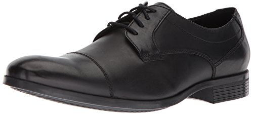 Clarks Men's Conwell Cap Oxford, Black Leather, 11 M US
