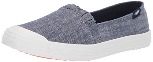 Rocket Dog Women's CLEA Dean Cotton Boat Shoe, Blue, 10