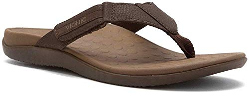 Vionic with Orthaheel Technology Men's Ryder Thong Sandals Chocolate Brown 9 D(M) US