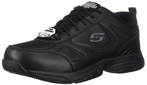Skechers for Work Men's Dighton Work Shoe,Black,10.5 M US