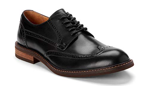 Vionic Men's Bowery Bruno Oxford Shoes – Leather Shoes for Men with Concealed Orthotic Support - Black Leather 7M