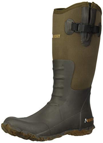 Rocky Women's Core Chore Rubber Outdoor Boot Knee High, Brown, 9 M US