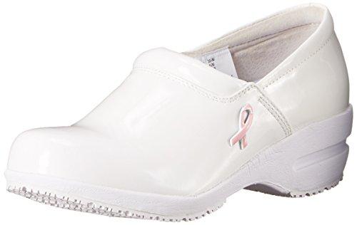CHEROKEE Women's Patricia-W, White Patent Pink Ribbon, 6 M US
