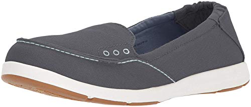 Columbia PFG Women's Delray Slip PFG Boat Shoe, Graphite, Dark Mirage, 5 Regular US