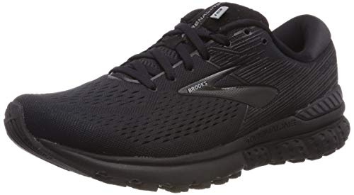 Brooks Mens Adrenaline GTS 19 Running Shoe - Black/Ebony - 4E - 8.5