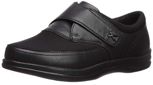 Apex Women's Emmy Monk Strap,Black Stretch Fabric/Leather,US 8.5 W