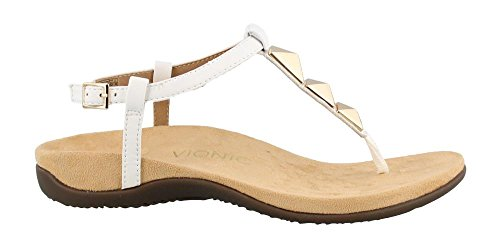 Vionic Rest Nala - Women's T-Strap Sandal White - 9 Medium