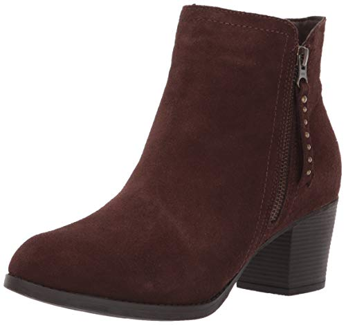Skechers Women's Taxi-Short Gore and Zipper Bootie Ankle Boot, Chocolate, 5 M US