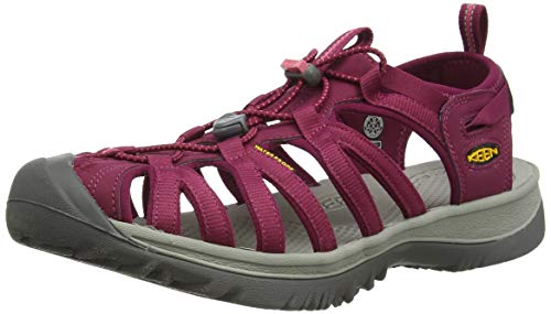 KEEN Women's Whisper Sandal,Beet Red/Honeysuckle,11 M US