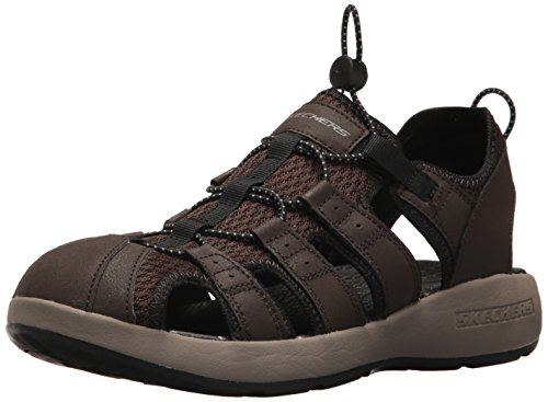 Skechers Sport Men's Melbo Journeyman2 Fisherman Sandal,12 2E US,brown