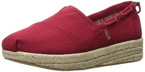 BOBS from Skechers Women's Highlights-Set Sail Flat, Red Sail, 5.5 M US