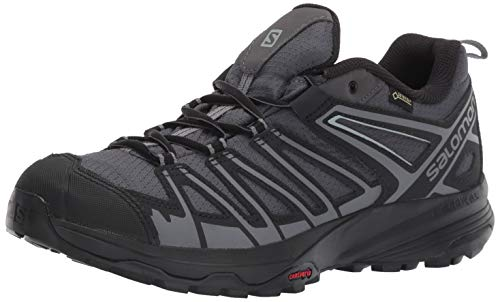 Salomon Men's X Crest GTX Hiking Shoes, Magnet/Black/Quiet Shade, 11