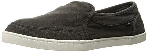 Sanuk womens Pair O Dice Flat, Washed Black, 8 US