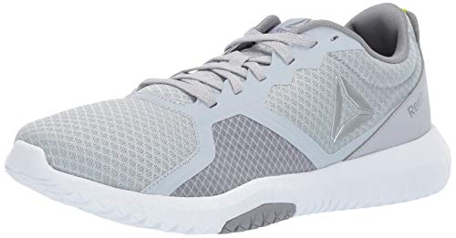 Reebok Men's Flexagon Force Cross Trainer, Cold Grey/White/Neon Lime/Silver, 8.5 M US