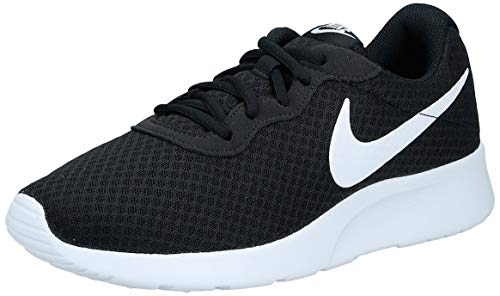Nike Womens Tanjun Running Sneaker Black/White 8.5
