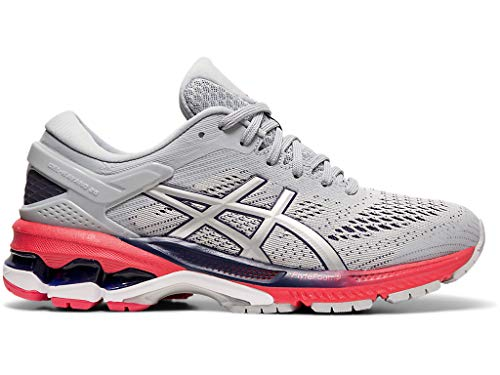 ASICS Women's Gel-Kayano 26 Running Shoes, 8.5M, Piedmont Grey/Silver