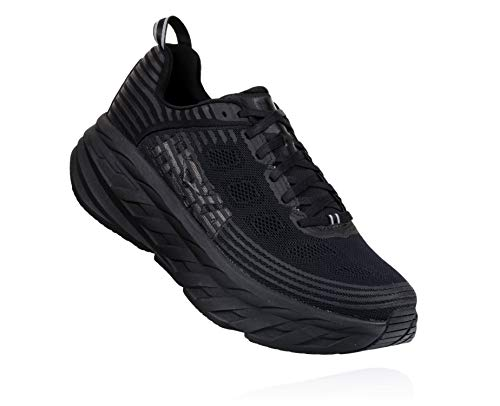 HOKA ONE ONE Womens Bondi 6 Black/Black Running Shoe - 9.5