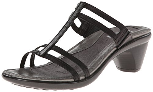 Naot Footwear Women's Loop Slide Sandal Black Raven Lthr 4 M US