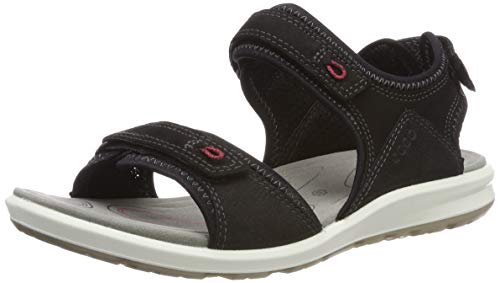 ECCO Womens Cruise II Leather Black Teaberry Sandals 10-10.5 US
