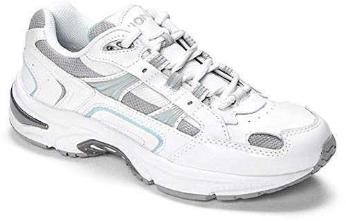 Vionic Women's Walker Classic Shoes, 5 B(M) US, White/Blue