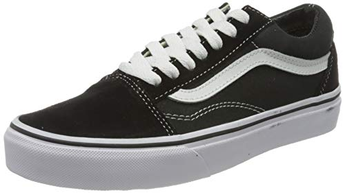 Vans Unisex Old Skool Black/True White Skate Shoe 7 Men US / 8.5 Women US