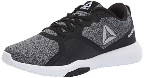 Reebok Women's Flexagon Force Cross Trainer, Black/True Grey/White, 9 D US
