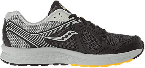 Saucony Men's Cohesion TR10 Trail Runner, Black/Grey/Yellow, 10.5 M US