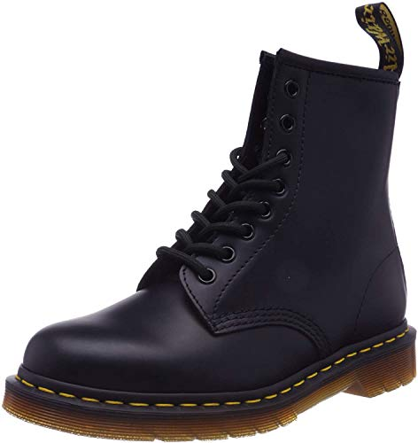 Dr. Martens Womens 1460W Originals Eight-Eye Lace-Up Boot, Black Smooth Leather, 7 M US/ 5 UK