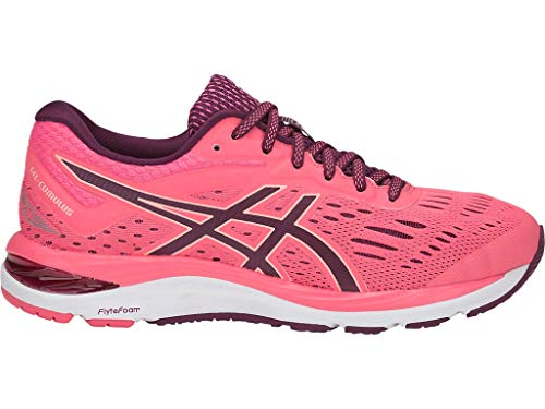 ASICS Women's Gel-Cumulus 20 Running Shoes, 5M, Pink Cameo/Roselle