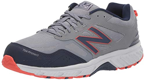 New Balance Men's 510 V4 Trail Running Shoe, Gunmetal/Navy, 7 M US