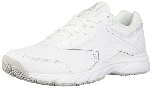 Reebok Men's Work N Cushion 3.0 Walking Shoe, White/Steel, 11.5 M US