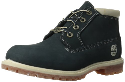 Timberland Women's Nellie Double Waterproof Ankle Boot,Navy,5 M US