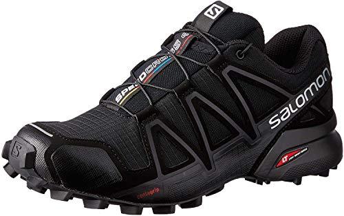 Salomon Women's Speedcross 4 Trail Running Shoes, Black/Black/BLACK METALLIC, 9