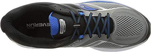 Saucony Men's Guide 10 Running Shoes, Grey Black, 7 W US