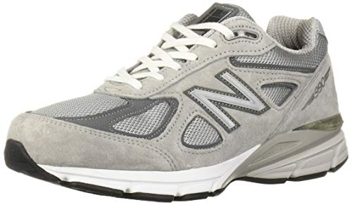 New Balance Men's Made 990 V4 Sneaker, Grey/Castlerock, 12 M US