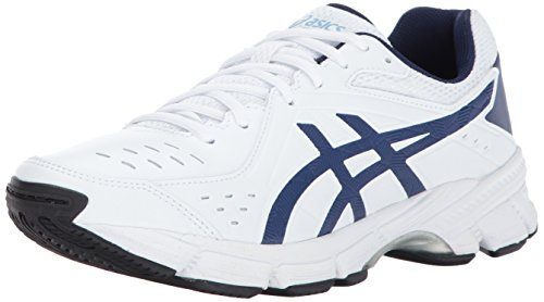 ASICS Women's GEL-195 TR Cross Trainer, White/Indigo Blue/Airy Blue, 8.5 2E US