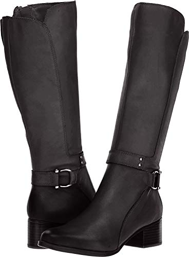 Naturalizer Womens Dane Leather Closed Toe Knee High, Black Leather, Size 7.0