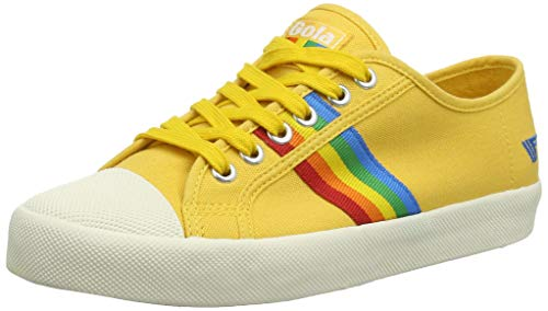 Gola Women's Coaster Rainbow Trainers, Yellow (Sun/Multi Yz), 3 (36 EU)