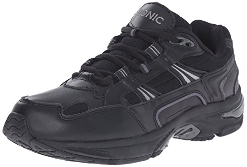 Vionic Men's Walker Classic Shoes - Walking Lace-up with Concealed Orthotic Arch Support Black 10.5 M US Medium US